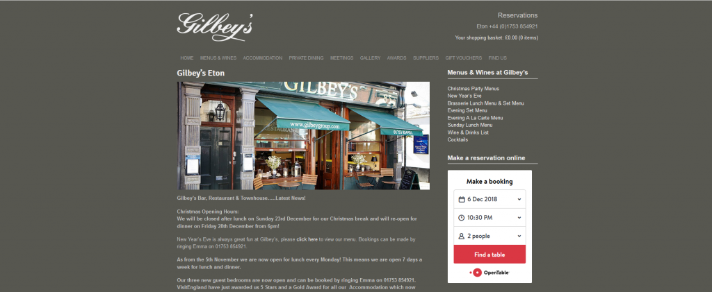 Gilbey's Bar and Restaurant Eton